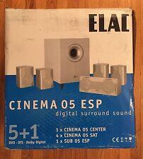 New listing Elac Cinema Esp 5+1 Digital Surround Sound System