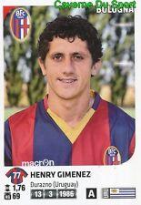046 HENRY GIMENEZ URUGUAY BOLOGNA.FC STICKER CALCIATORI 2012 PANINI