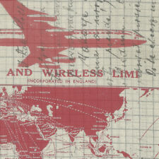 Tim Holtz PWTH040 Correspondence Jet Setter Red Cotton Fabric By Yard