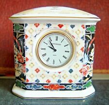 WEDGWOOD  Harlequin Jewel  Desk Clock - Scarce!