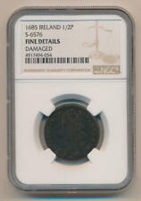 1685 Ireland 1/2 Penny. S-6576  NGC Fine Details