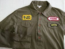 number (n)ine nine made in Italy patch green shirt tshirt size 3