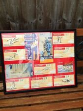 11 silverstone tickets signed framed f1 drivers  kimi Webber  and more .