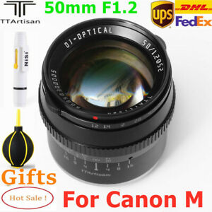 TTArtisan 50mm F1.2 APS-C MF Lens for Canon EOS M mount M1 M2 M3 M5 M6 M50 Cam