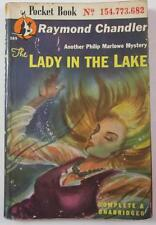LADY IN THE LAKE RAYMOND CHANDLER 1946 POCKET BOOK #389 FIRST ED PAPERBACK