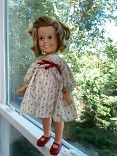 "Shirley Temple 16"" Doll by Ideal 1972 Red Shoes Vintage Doll Great Face Original"