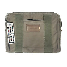 Property Of... Laptop/Tablet Sleeve Olive Green With Zipper Enclosure