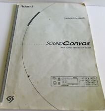 Roland SoundCanvas Midi Sound Generator Sc-50 Original Owners Manual
