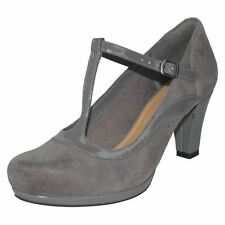 Ladies Chorus Pitch Leather T-Bar Court Shoes by Clarks - £59.99