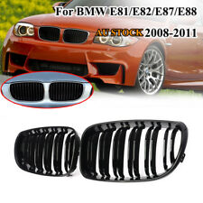 For BMW 1 Series E81 E87 E82 E88 128i 135i 2007-2011 Gloss Black Front Grille AU