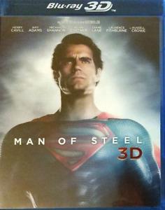 BLU RAY 3D - MAN OF STEEL / HENRY CAVILL, AMY ADAMS, KEVIN COSTNER, WARNER, NEUF