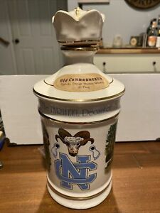 1979 Old Commonwealth UNC Tar Heels Decanter North Carolina With Lid
