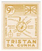 (I.B) Tristan da Cunha Postal : Local Post 9d (Map)