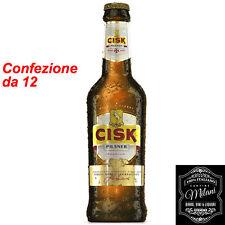Birra Cisk Pilsner Premium 0,33 chiara malta confezione da 12 bottiglie