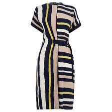 Warehouse Stripe Belted Dress Multi Size UK 8 rrp £63 DH089 QQ 29