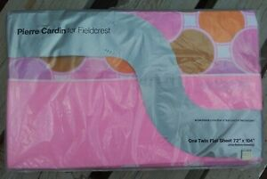 Vtg NOS Pierre Cardin for Fieldcrest Twin Flat Sheet~no iron~Made in USA