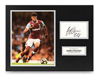 Ashley Fletcher Signed 16x12 Photo Display West Ham United Autograph Memorabilia