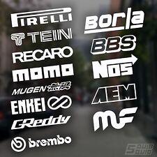 13 Automotive Sponsor Decals White JDM Car Racing Drift Sticker