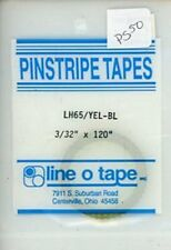 """Line O Tape 3/32"""" x 120"""" Pinstripe Masking Tapes LH65 / Yellow Blue #PS50"""