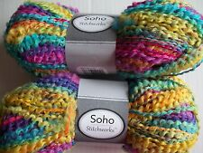 Herrschners  Stitchworks boucle yarn, Mellow Mix, lot of 2 (92 yds each)