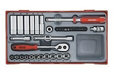 Teng TT1435 1/4″ Drive Metric Socket Set in Tool Box Module Tray