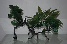 Acuario Plantas de Plástico Verde realista conectados a registro de madera 37 X 10 X 28 Cm