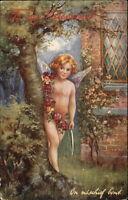 TUCK Oilette - Cupid's Capers - On Mischief Bent c1910 Postcard