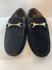Men Driver-2 Black Micro Suede Soft Feel Loafers size 8.5 Driving Shoes