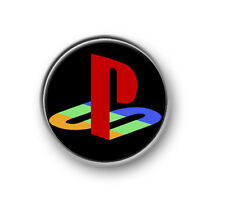 "PLAYSTATION SYMBOL 1"" / 25mm pin button / badge / gaming / console / logo / XBOX"