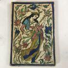 19th c. Women in Garden Iznik Armenian Islamic Glazed Ceramic Tile 9.5' x 14'