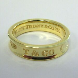 TIFFANY & Co. 1837 18K Yellow Gold 6mm Wide Ring 10