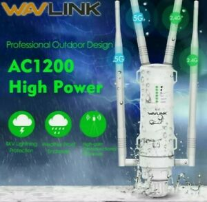 Wavlink AC1200 Dual-Band High Power Outdoor Range Extender Signal Boosters & POE