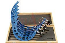 """6-12"""" 6 PCS MICROMETER SET .0001 CARBIDE TIPPED WITH  STANDARDS"""