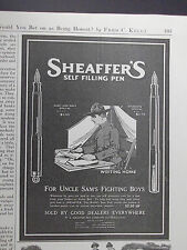 1917 Sheaffer's Self Filling Pen Army & Navy & Students Specials Advertisement