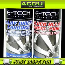 E-Tech Professional SILVER Alloy Wheel Spray Paint Lacquer Refurbishment Deal