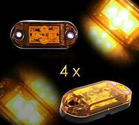 4 x 24V Orange Feux De Gabarit 4 LED Ambre Pour Camion Remorque Bus Van