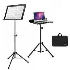 Portable Sheet Music Stand Folding Travel Metal Orchestra Music Stand Carry Bag