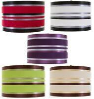 "11"" Ribbon Drum Shade Pendant Lampshade Ceiling Light Shade Table Lamp Sailing"