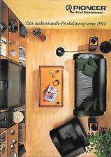 Pioneer Produktprogramm 1994 Prospekt Datenblatt Datasheet Catalogue