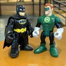 Lot 2 Imaginext Fisher-Price DC Comics Green Lantern & BATMAN Figure authentic