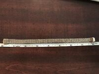 """14KT 24.1 GRAMS YELLOW GOLD 8"""" WOMENS HANDCRAFTED MADE IN ITALY BRACELET"""