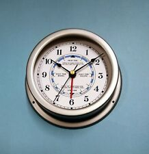 MEGA-QUARTZ SHIPS Time and Tide Clock matt GREY case