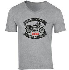 BMW R100GS-neuf coton gris col V T-Shirt