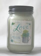 Crossroads Designs Blossom Bucket Jar Candle Basil & Lime Love Without Measure