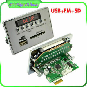 12V Car Bluetooth Wireless MP3 Decoder Board Audio Module USB SD FM Radio Neat