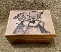 Hummel - Two Girls - Vintage Thorens Wood Music Box Lara's Theme Switzerland $50