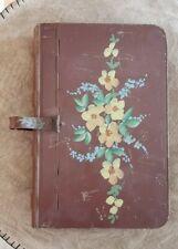 Vintage Tin Flower Art Tole Silent Butler Metal Crumb Catcher Ash Tray