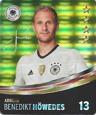 Sammelbild Nr 13 Benedikt HÖWEDES REWE Glitzer Sticker Fußball DFB EM 2016