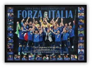ITALY EURO 2020 CHAMPIONS ITALIA COLLAGE PRINT FRAMED