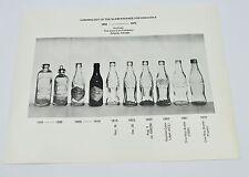 Coca-cola Coke estados unidos 1970 SW fotografía foto botellas cronología bottle Evolution